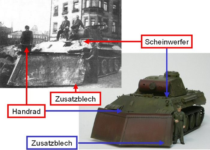n rnberg 1944 schuttr umung durch panther panzer mit r umschild. Black Bedroom Furniture Sets. Home Design Ideas