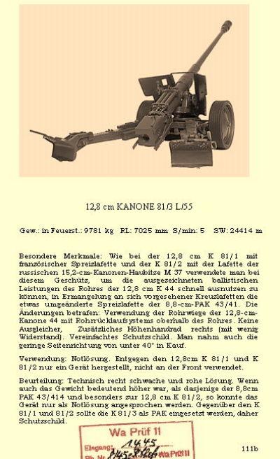 12 8 cm kanone 81 3 1 35. Black Bedroom Furniture Sets. Home Design Ideas